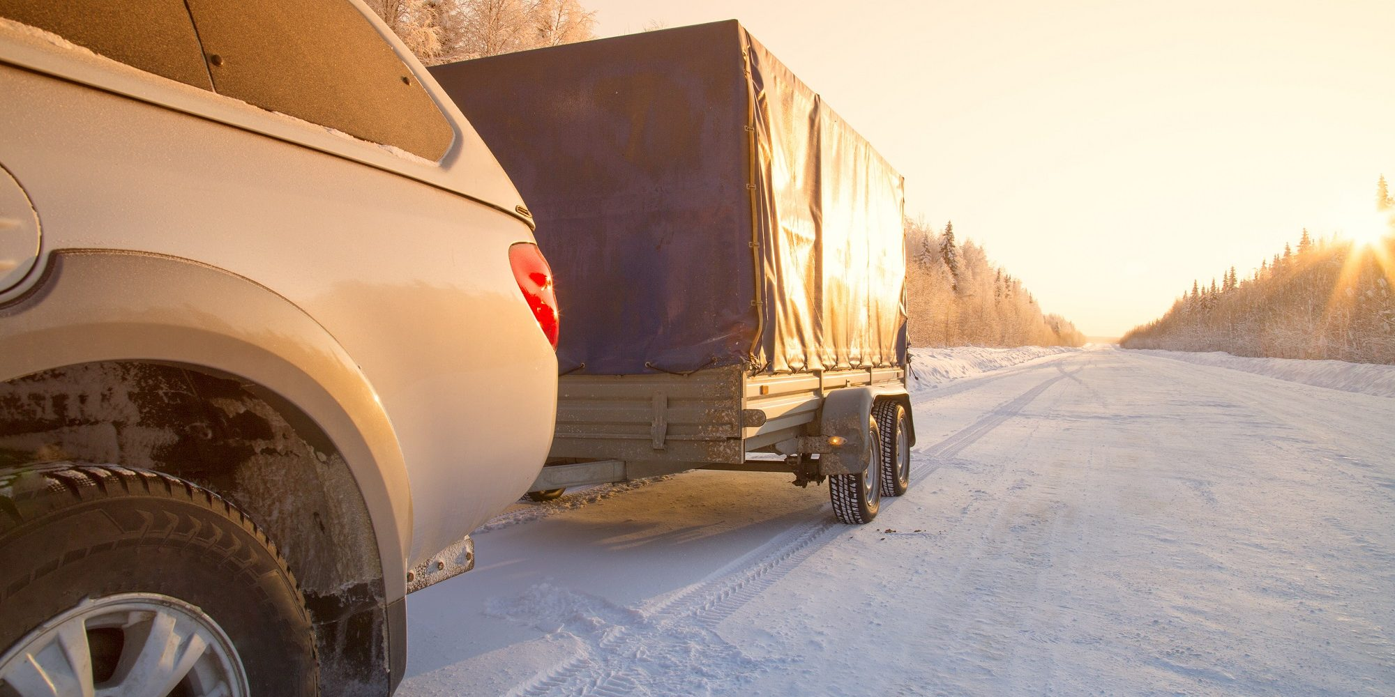 open car trailer with cover
